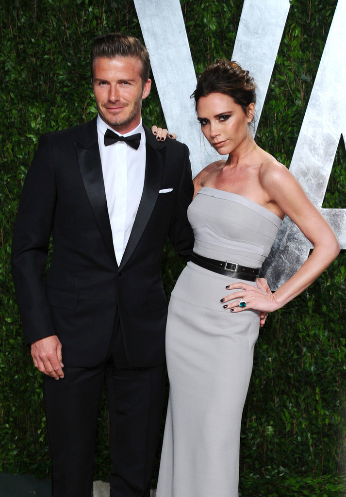 David and Victoria glammed up for the 2012 Vanity Fair Oscar party in Feb. 2012.