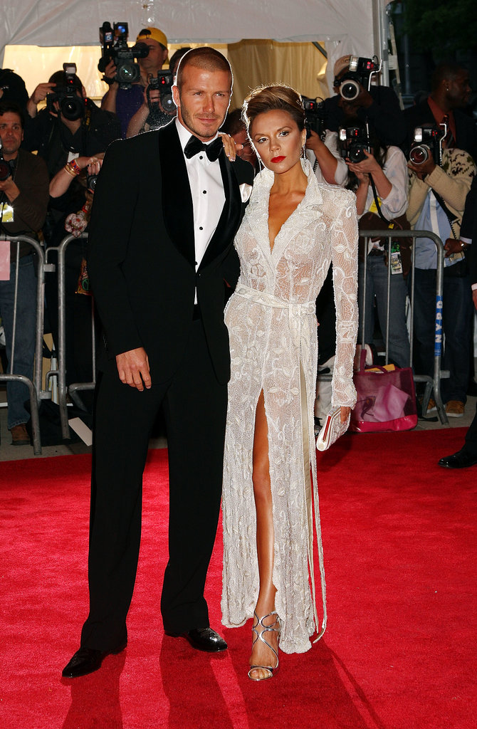 David and Victoria walked the red carpet at the Met Gala in NYC in May 2008.