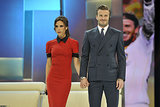 Victoria and David made a joint TV appearance on the China Central Television show in June 2013.