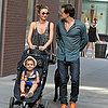 Miranda Kerr, Orlando Bloom and Flynn Walking in NYC Photos