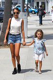 Nicole Richie and her mini-me, Harlow, looked too cute together as they hit the streets of Beverly Hills on July 3.