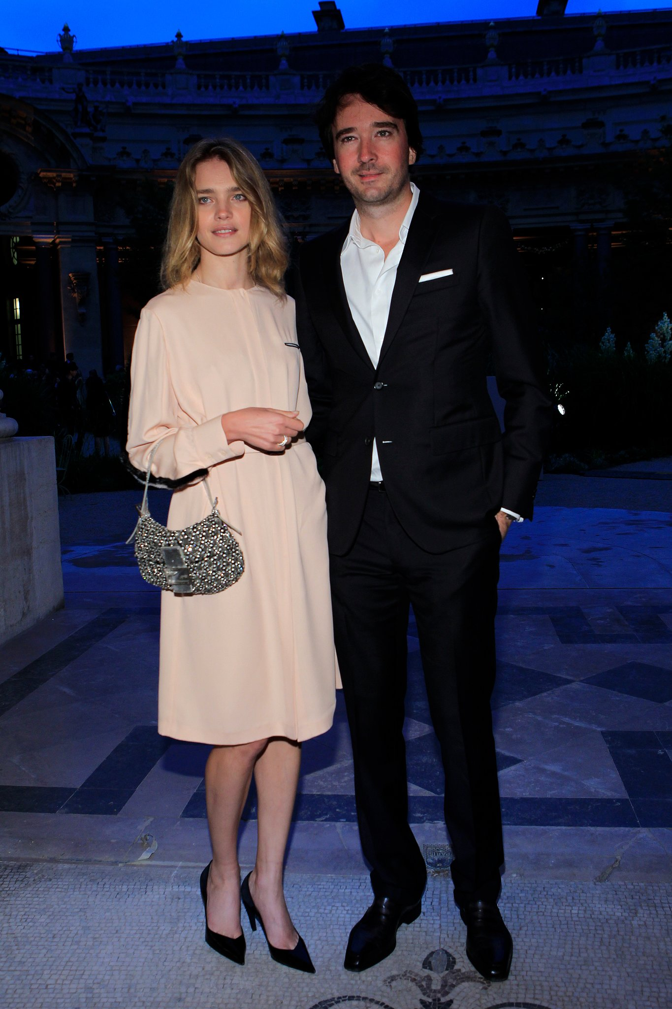 Natalia Vodianova and Antoine Arnault dined with Karl Lagerfeld at the Petit Palais. Source: