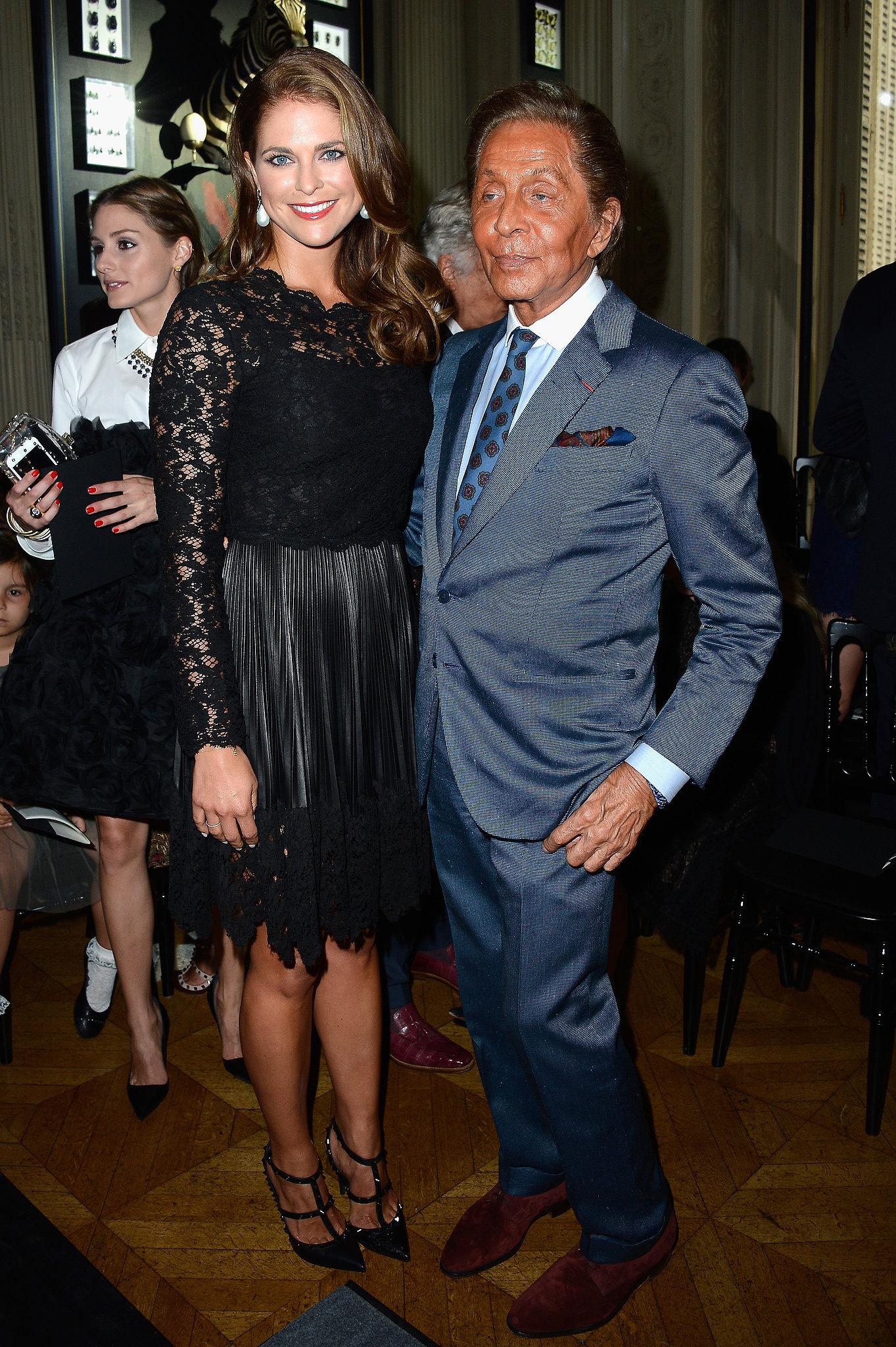 Valentino Garavani got the royal treatment from Prin