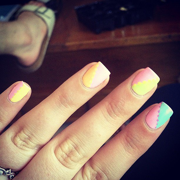 We're loving this '80s-inspired manicure. Source: Instagram user marsupoire
