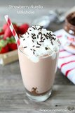 Strawberry Nutella Milk Shake