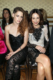 Kristen sat front row next to Elsa Zylberstein at the Zuhair Murad Paris Haute Couture show.
