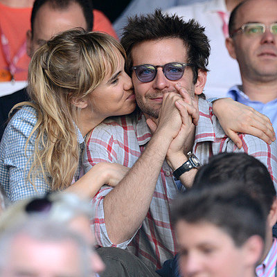 Bradley Cooper Gets a Kiss From Suki Waterhouse at Wimbledon