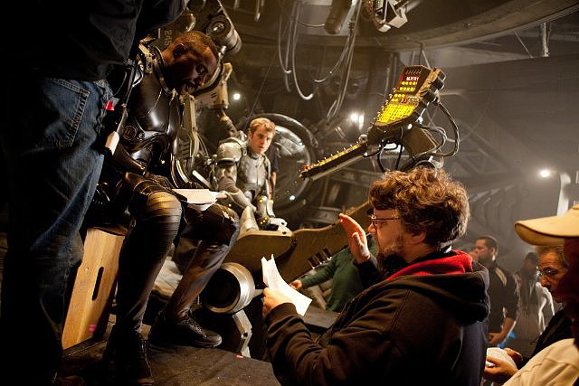 Director Guillermo del Toro on the set of Pacific Rim.