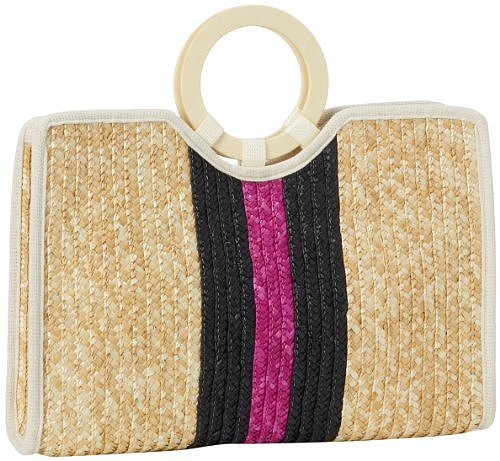 Magid Two Tone Milan Straw Tote
