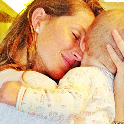 Gisele Bundchen Cuddling Baby Vivian on Instagram | Picture