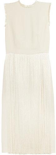 Stella McCartney Silk-fringed cady dress