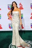 For the 2011 Latin Grammys, Vergara stepped out in an embroidered, strapless Reem Acra gown that hugged her curves in all the right places.