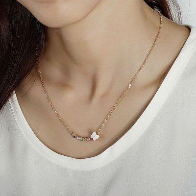 # Butterfly Rhinestone Pendant Necklace