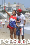 Christina Milian posed with a friend in July for a beach selfie.
