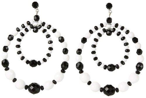 Tarina Tarantino - Cecil Earrings (Black/White) - Jewelry