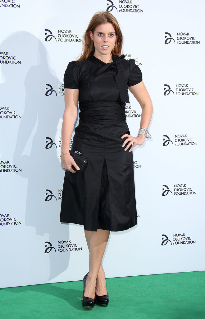 Princess Beatrice of York kept it basic and classic in an LBD for the London Novak Djokovic Foundation gala.