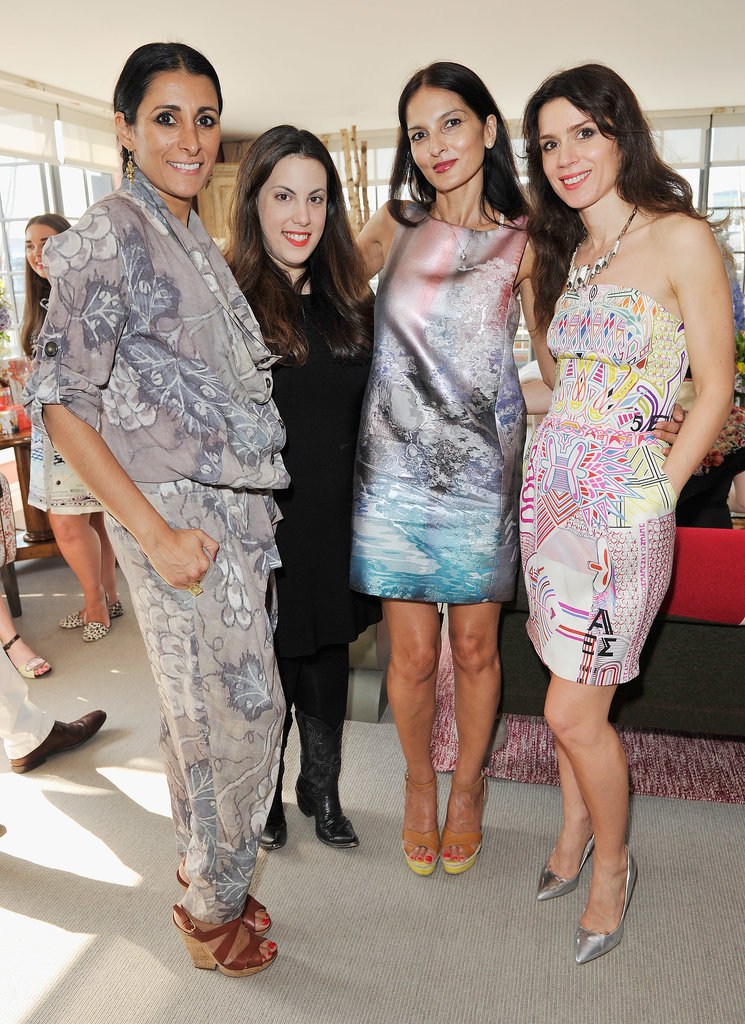 Mary Katrantzou found herself in a sea of prints among Serena Rees, Yasmin Mills, and Lara Bohinc at her London tea party.