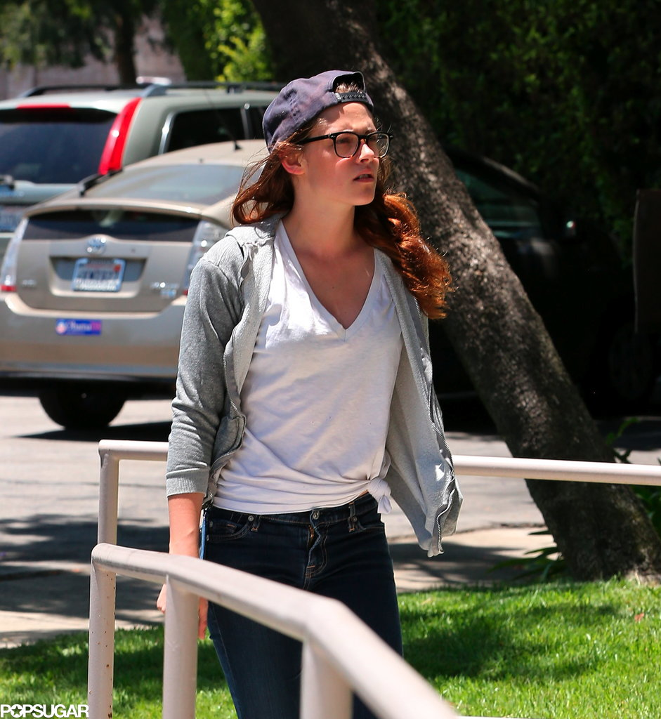 Kristen Stewart got back to work at a studio in LA.
