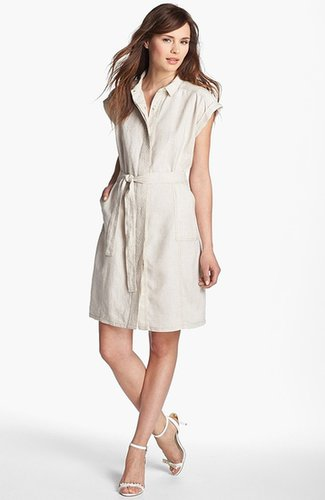 Caslon Tie Front Shirtdress