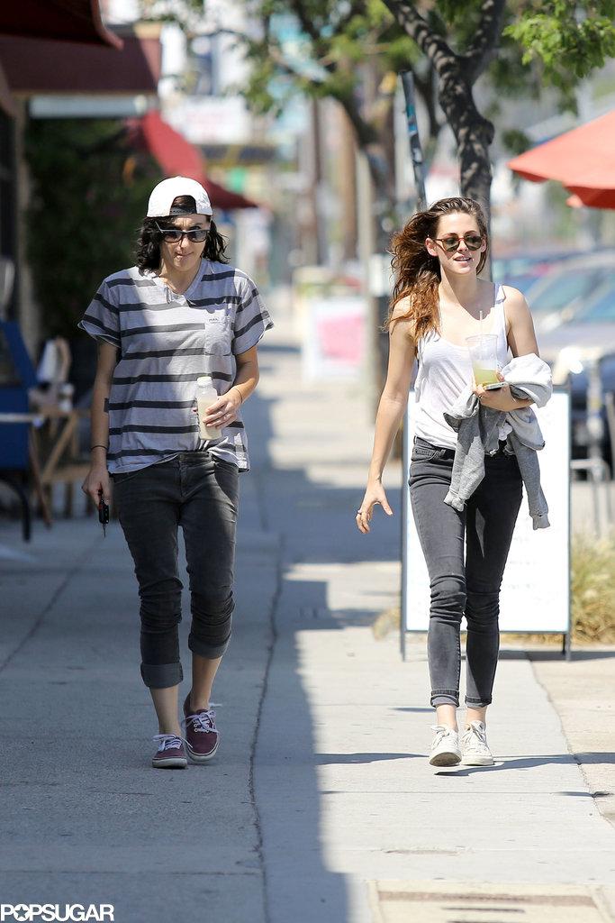 Kristen Stewart grabbed a cold drink in LA with a friend.
