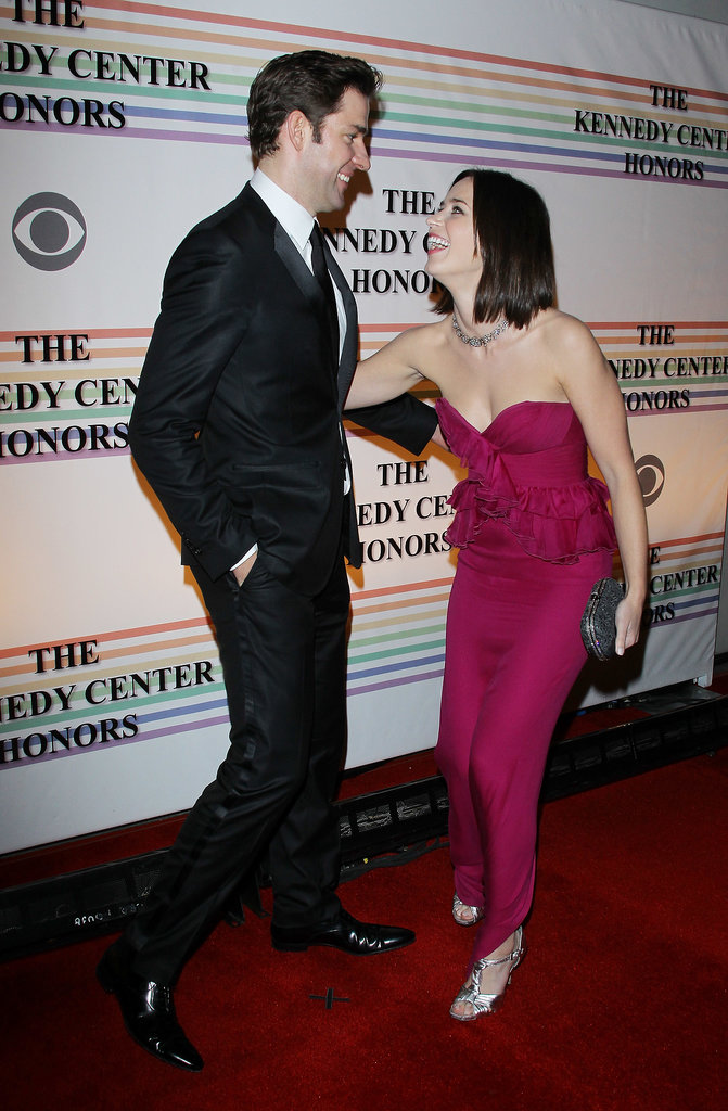 John and Emily shared a laugh as they arrived at the 34th Kennedy Center Honors in Washington DC in Dec. 2011.