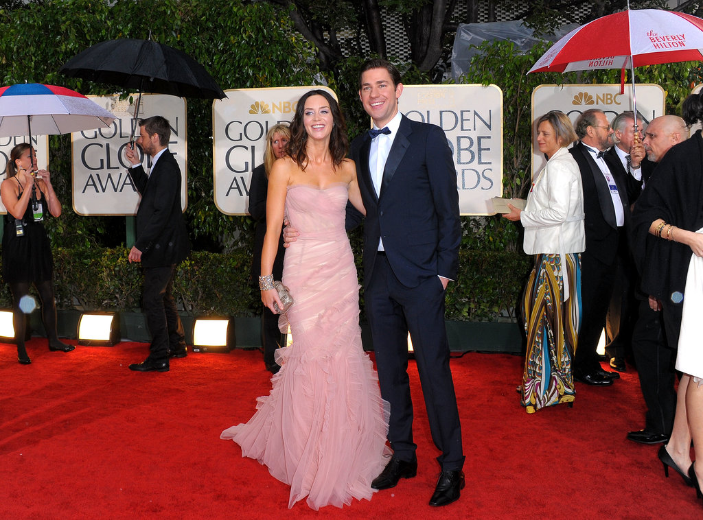 Emily and John stayed close at the Golden Globes in Jan. 2010.