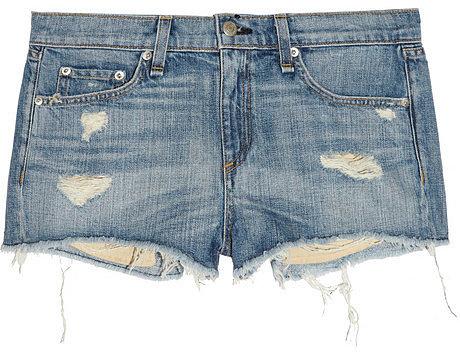 Rag & bone JEAN Mila distressed denim shorts