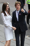Who better to design Nancy Shevell's dress than Stella McCartney when she tied the knot to Sir Paul in October 2011.