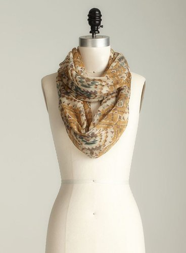 David & Young Aztec Printed Infinity Scarf