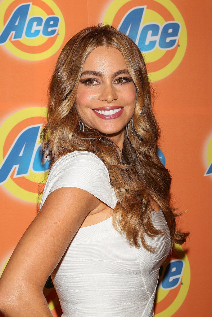 Sofia's hair got perpetually blonder over the last few months of 2013, and she debuted her golden hue at a cocktail party for the Ace Campaign in Mexico City.
