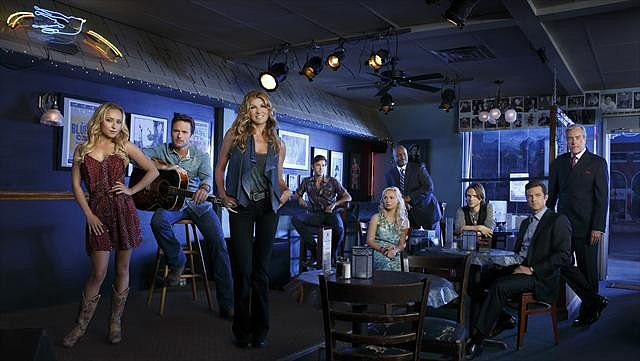 "Nashville Two nominations total:  Outstanding lead actress in a drama series, Connie Britton Outstanding original music and lyrics, ""Nothing in This World Will Ever Break My Heart Again"""