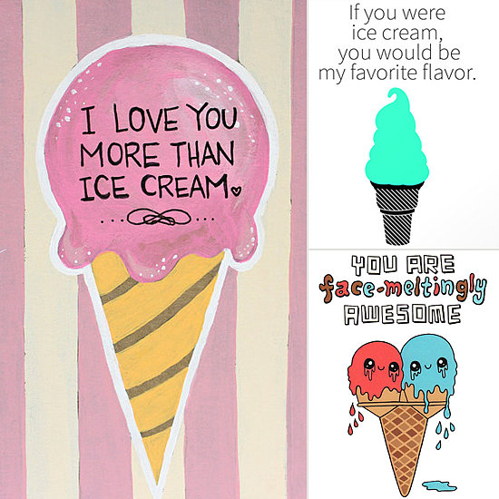Sweet Ways to Say I Love You: Ice Cream Art