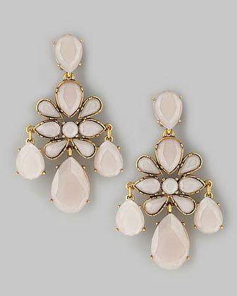 Oscar de la Renta Faceted Chandelier Earrings, Petal