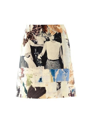 Carven Collage print A-line skirt