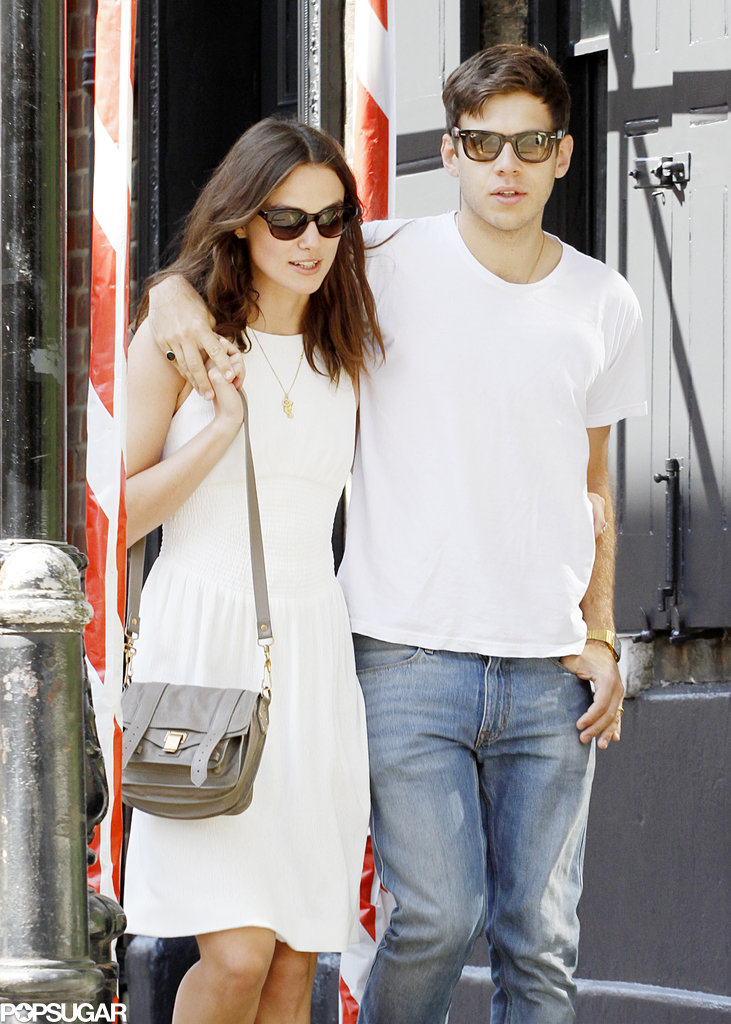 Keira Knightley held onto her husband, James Righton.