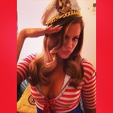 Khloé Kardashian channeled a '40s pinup girl for a photo shoot. Source: Instagram user khloekardashian