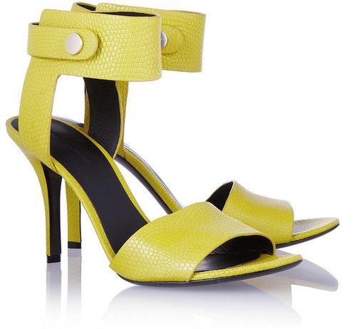 Alexander Wang Amber lizard-effect sandals