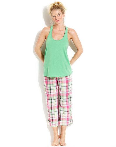 Jenni by Jennifer Moore Pajamas, Sunny Plaid Tank and Capri Pants Set
