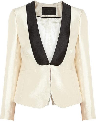 J.Crew Tuxedo wool and silk-blend twill jacket
