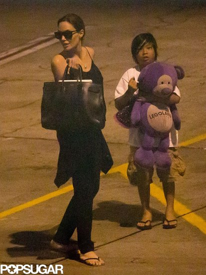 Angelina Jolie and Pax arrived back in LA.