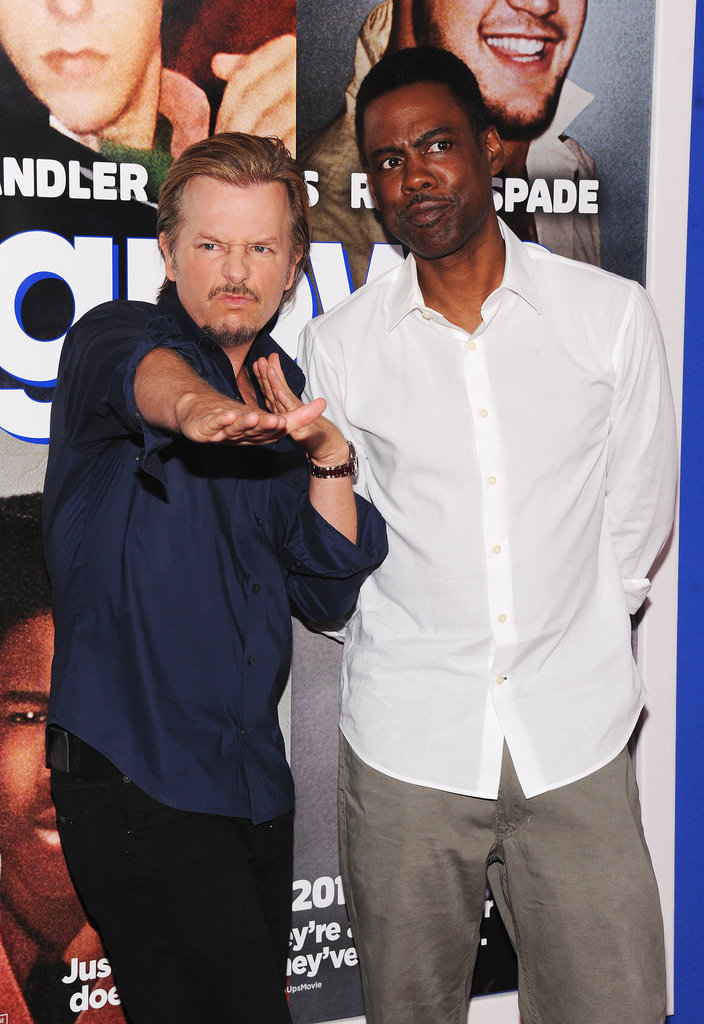 Chris Rock got silly with David Spade.