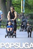Orlando Bloom and Flynn Bloom took a walk around Central Park in NYC.