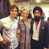 Fashion Fund finalists Marc Alary and Misha Nonoo joined Waris Ahluwalia for a celebratory shot at the announcement of their honor. Source: Instagram user cfda