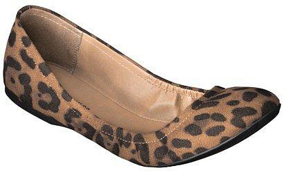 Women's Mossimo Supply Co. Ona Side Scrunch Ballet Flat - Animal Print