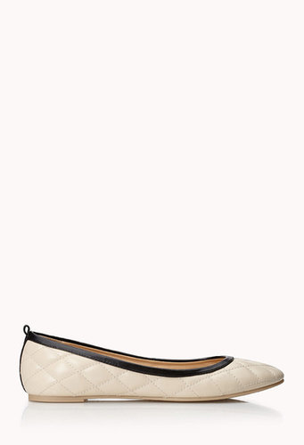 FOREVER 21 Iconic Faux Leather Ballet Flats