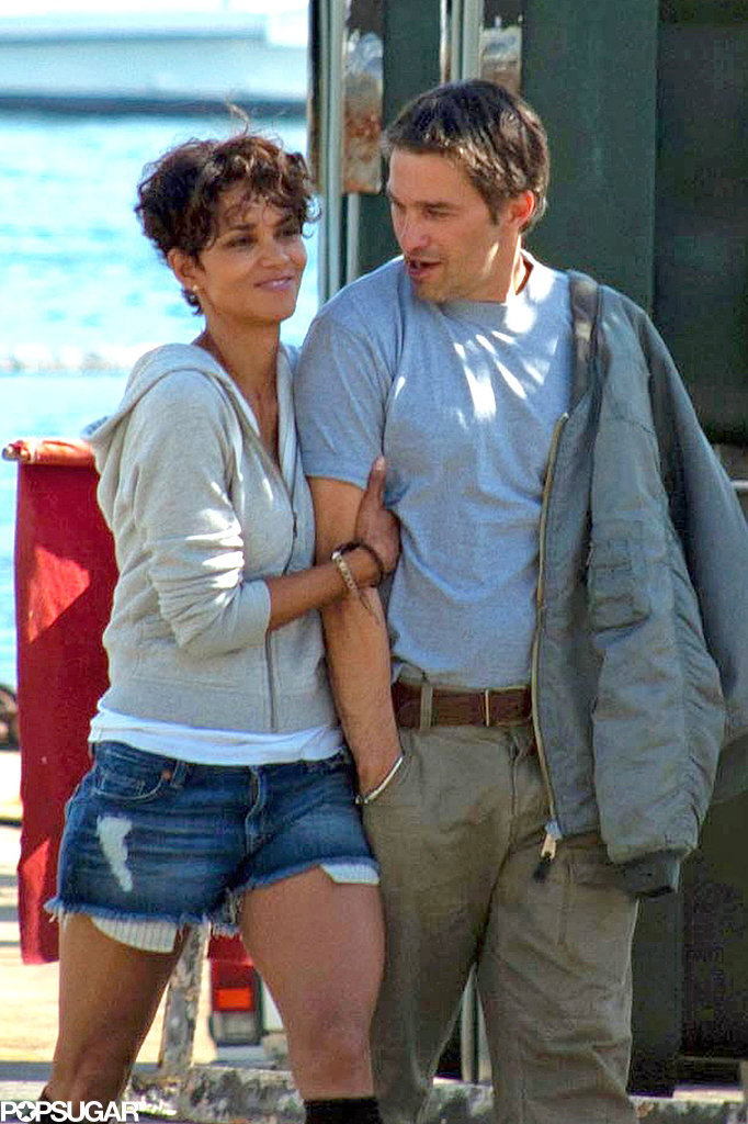 Halle Berry and Olivier Martinez snuggled up on the Dark Tide set in the Summer of 2010.
