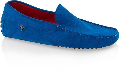 Ferrari Gommino Suede Moccasin Loafers