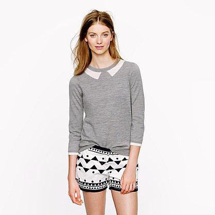 Merino Tippi sweater in trompe l'oeil