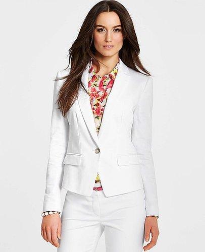Cotton Sateen One Button Jacket
