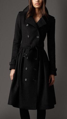 Full Skirt Virgin Wool and Cashmere Coat